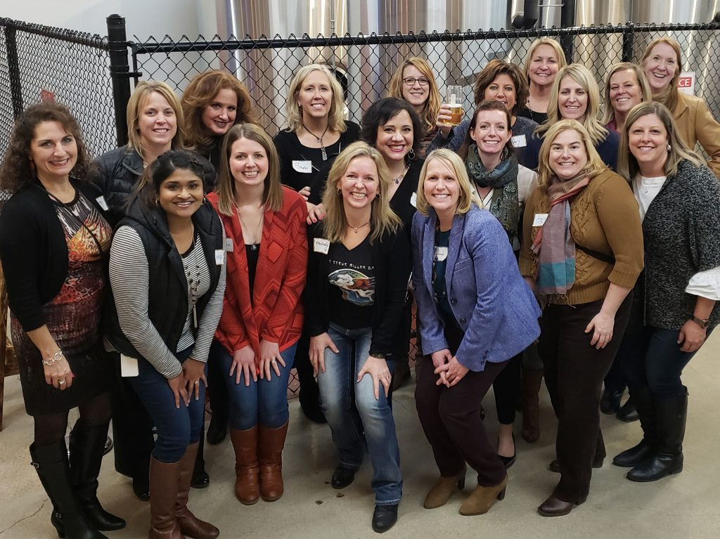 Women group photo for Fall and Winter 2018 Client & Guest Happy Hour in Edina, Minnesota