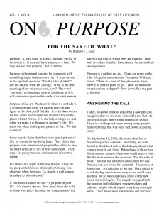 On Purpose Journal
